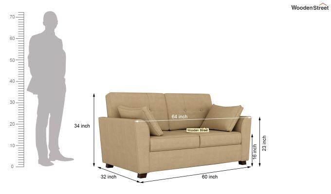 Archerd 2 Seater Sofa (Fabric, Irish Cream)-11