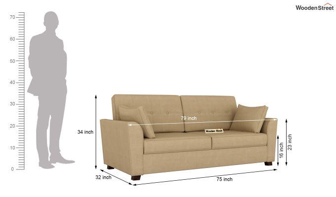 Archerd 2 Seater Sofa (Fabric, Irish Cream)-12