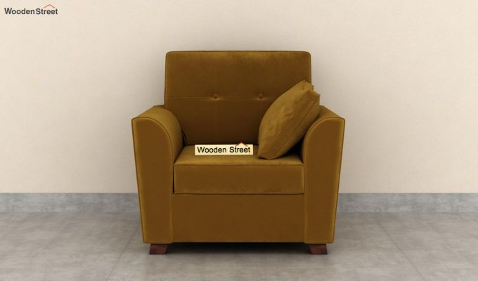 Archerd 2 Seater Sofa (Velvet, Chestnut Brown)-6