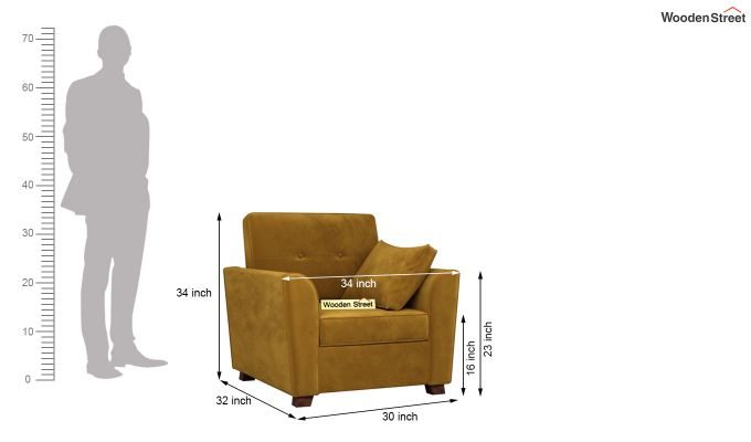 Archerd 2 Seater Sofa (Velvet, Chestnut Brown)-9