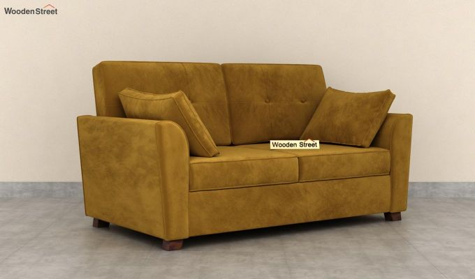 Archerd 2 Seater Sofa (Velvet, Chestnut Brown)-2