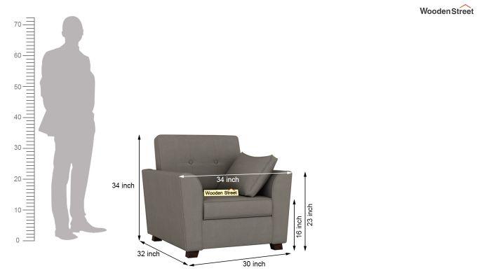 Archerd 2 Seater Sofa (Fabric, Warm Grey)-10