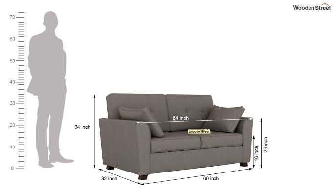 Archerd 2 Seater Sofa (Fabric, Warm Grey)-11