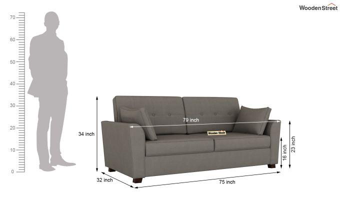 Archerd 2 Seater Sofa (Fabric, Warm Grey)-12