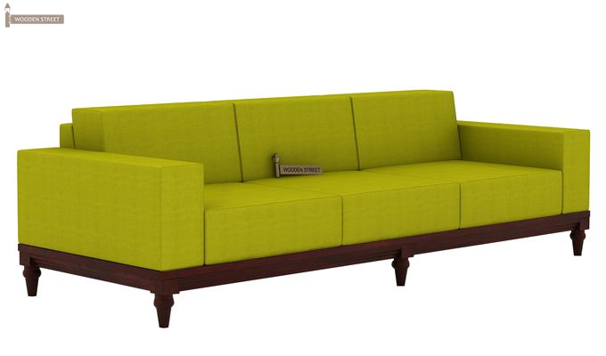 Ayres 3 Seater Fabric Sofa (Canary Green)-2