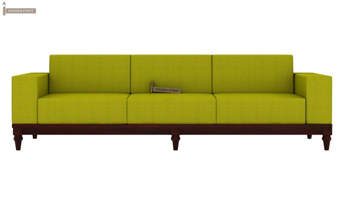 Ayres 3 Seater Fabric Sofa (Canary Green)-1