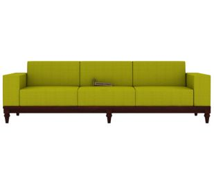 Ayres 3 Seater Fabric Sofa (Canary Green)