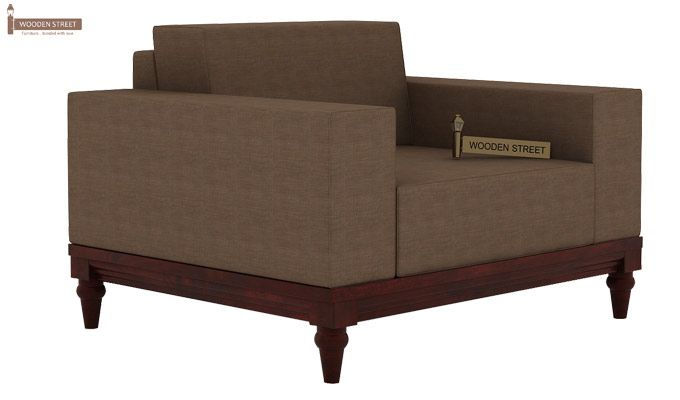 Ayres 1 Seater Fabric Sofa (Classic Brown)-1