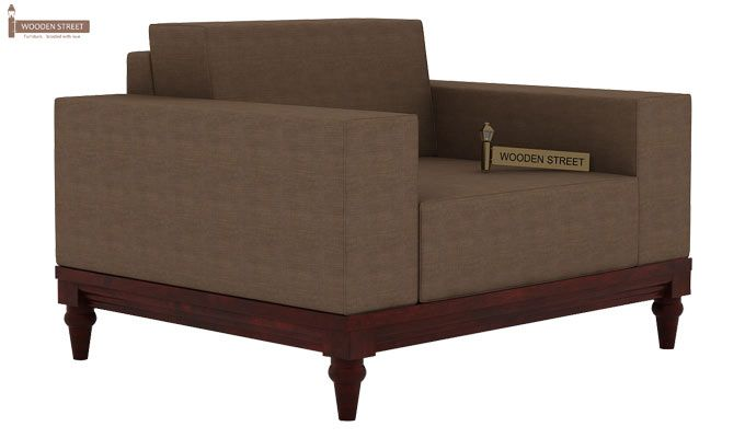 Ayres 1 Seater Fabric Sofa (Classic Brown)-2