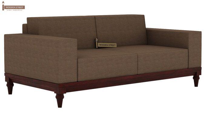 Ayres 2 Seater Fabric Sofa (Classic Brown)-1