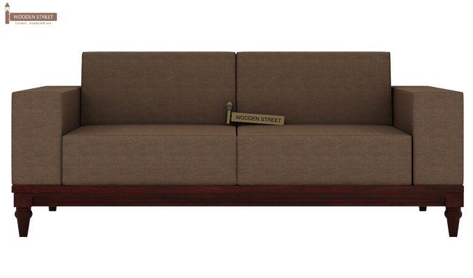 Ayres 2 Seater Fabric Sofa (Classic Brown)-2