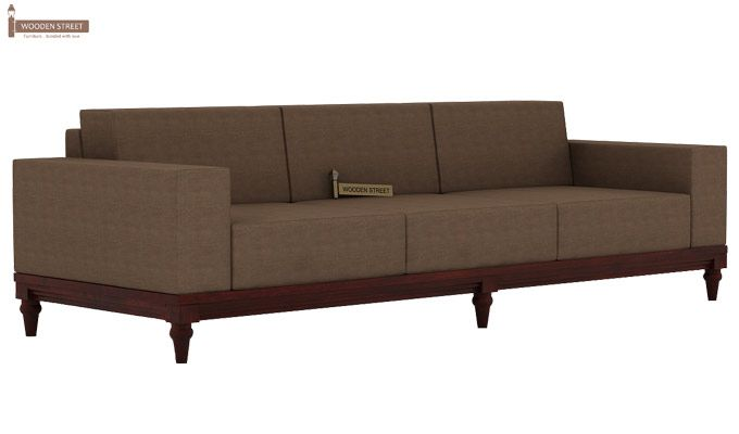 Ayres 3 Seater Fabric Sofa (Classic Brown)-1
