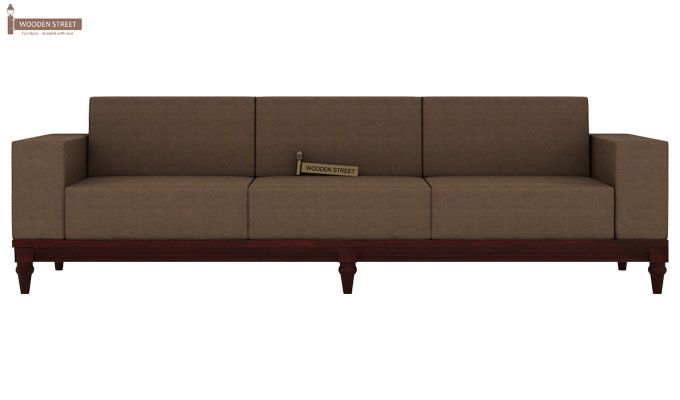 Ayres 3 Seater Fabric Sofa (Classic Brown)-2
