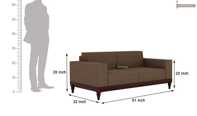 Ayres 2 Seater Fabric Sofa (Classic Brown)-3