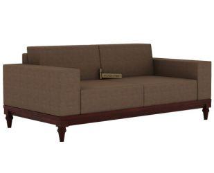Ayres 2 Seater Fabric Sofa (Classic Brown)