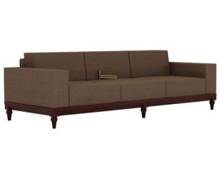 Ayres 3 Seater Fabric Sofa (Classic Brown)