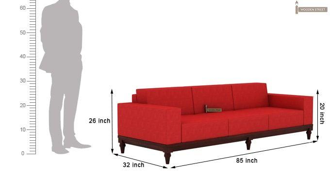 Ayres 1 Seater Fabric Sofa (Dusky Rose)-10