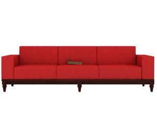 Ayres 3 Seater Fabric Sofa (Dusky Rose)