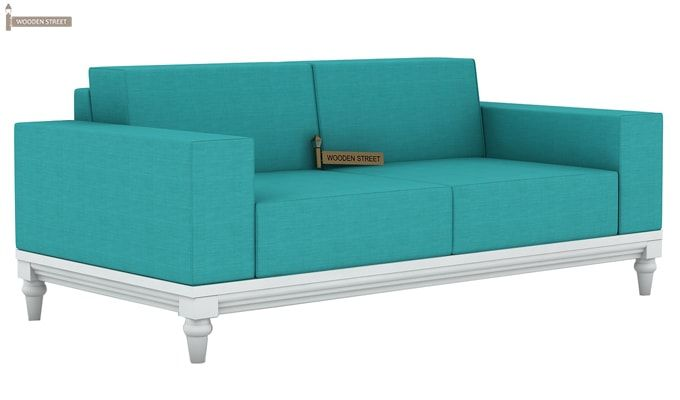 Ayres 2 Seater Fabric Sofa (Electric Turquoise)-2