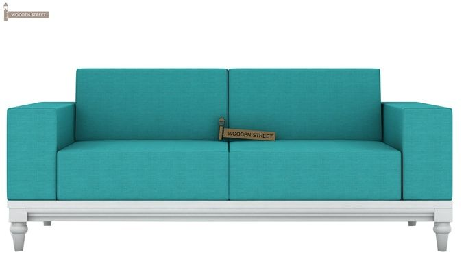 Ayres 2 Seater Fabric Sofa (Electric Turquoise)-3