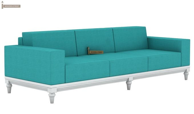 Ayres 3 Seater Fabric Sofa (Electric Turquoise)-3