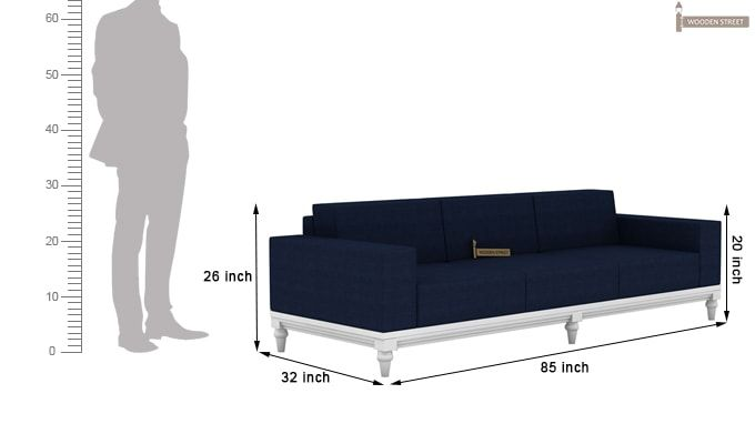 Ayres 3 Seater Fabric Sofa (Indigo Ink)-4