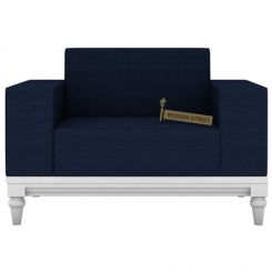 Ayres 1 Seater Fabric Sofa (Indigo Ink)