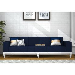 Ayres 3 Seater Fabric Sofa (Indigo Ink)