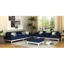 Ayres Fabric Sofa Set 3+1+1 (Indigo Ink)