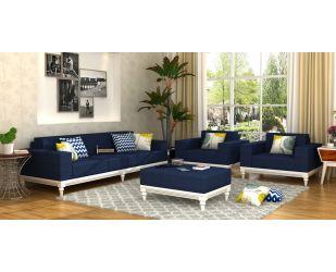 Ayres Fabric Sofa Set 3+1+1 (Indigo Ink)