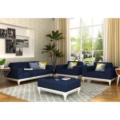 Ayres Fabric Sofa Set 2+1+1 (Indigo Ink)