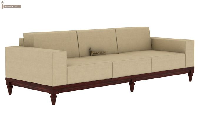 Ayres 3 Seater Fabric Sofa (Irish Cream)-2
