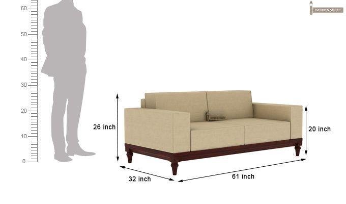 Ayres 2 Seater Fabric Sofa (Irish Cream)-3