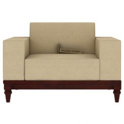 Ayres 1 Seater Fabric Sofa (Irish Cream)