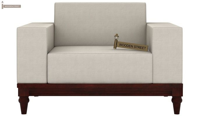 Ayres 1 Seater Fabric Sofa (Ivory Nude)-2