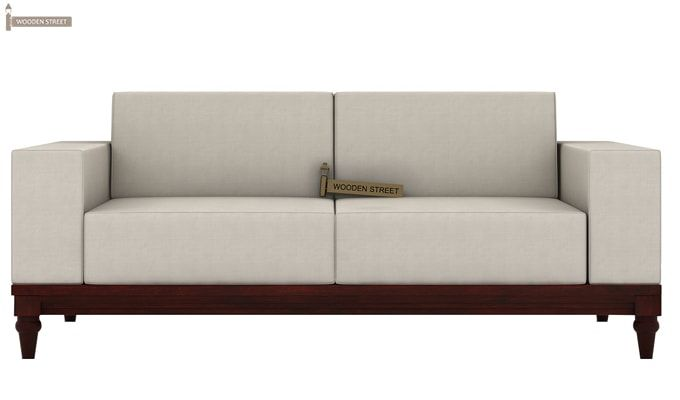 Ayres 2 Seater Fabric Sofa (Ivory Nude)-2