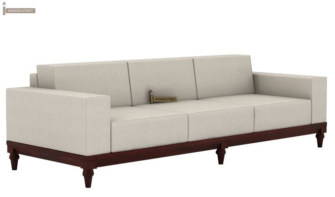 Ayres 3 Seater Fabric Sofa (Ivory Nude)-1