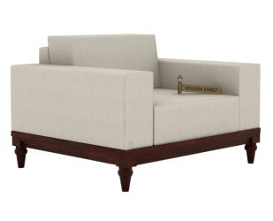 Ayres 1 Seater Fabric Sofa (Ivory Nude)