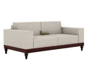 Ayres 2 Seater Fabric Sofa (Ivory Nude)