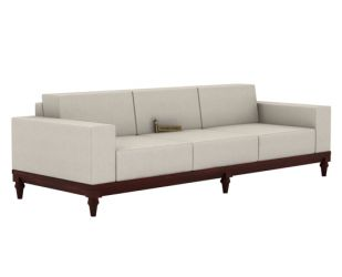 Ayres 3 Seater Fabric Sofa (Ivory Nude)