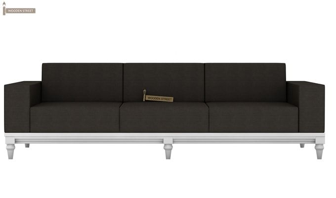 Ayres 1 Seater Fabric Sofa (Steel Grey)-6