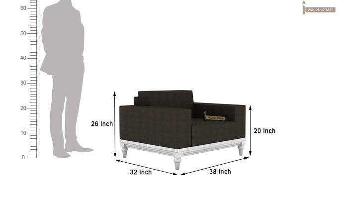 Ayres 1 Seater Fabric Sofa (Steel Grey)-3