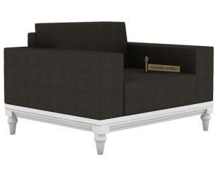 Ayres 1 Seater Fabric Sofa (Steel Grey)