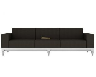 Ayres 3 Seater Fabric Sofa (Steel Grey)