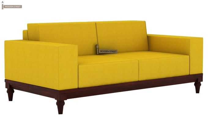 Ayres 2 Seater Fabric Sofa (Yellow Blush)-1