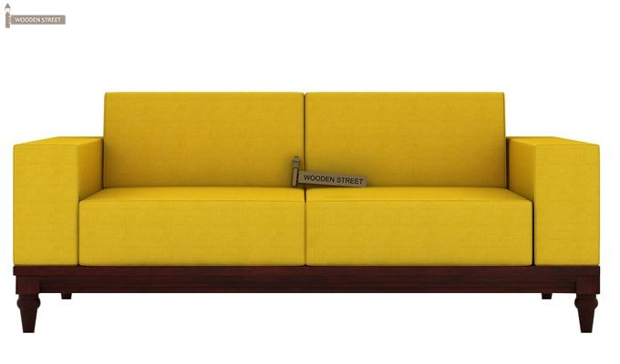 Ayres 2 Seater Fabric Sofa (Yellow Blush)-2
