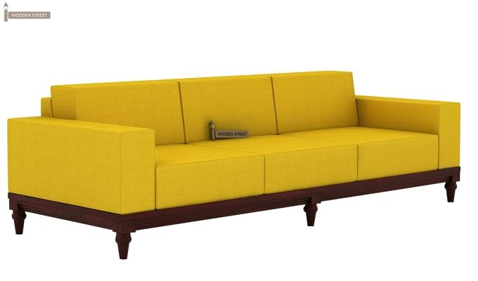 Ayres 3 Seater Fabric Sofa (Yellow Blush)-1