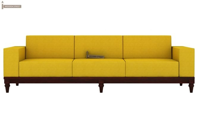Ayres 3 Seater Fabric Sofa (Yellow Blush)-2