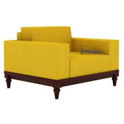 Ayres 1 Seater Fabric Sofa (Yellow Blush)