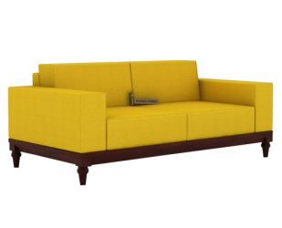 Ayres 2 Seater Fabric Sofa (Yellow Blush)